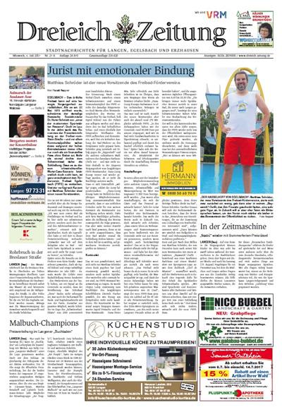 Dreieich Zeitung vom 5. Juli 2017: Jurist mit emotionaler Bindung / Um den Artikel zu lesen, klicken Sie auf die Grafik (PDF)